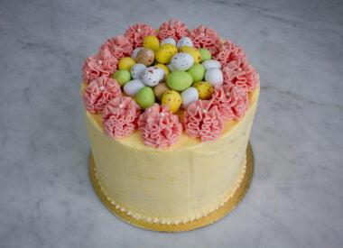 easter cake lemon raspberry chocolate